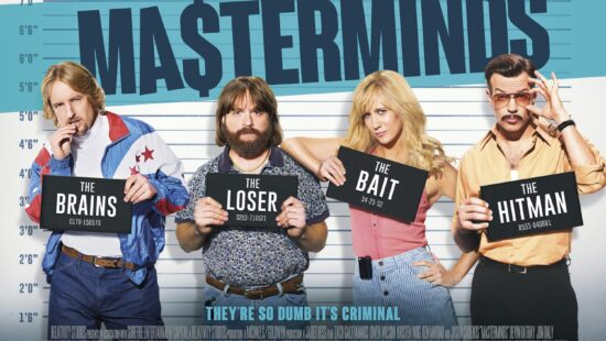 New UK poster for 'Masterminds'
