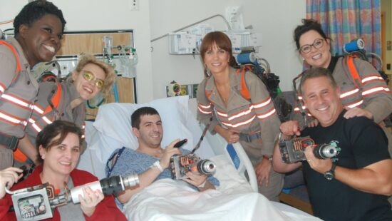 'Ghostbusters' cast visit Tufts Medical Center