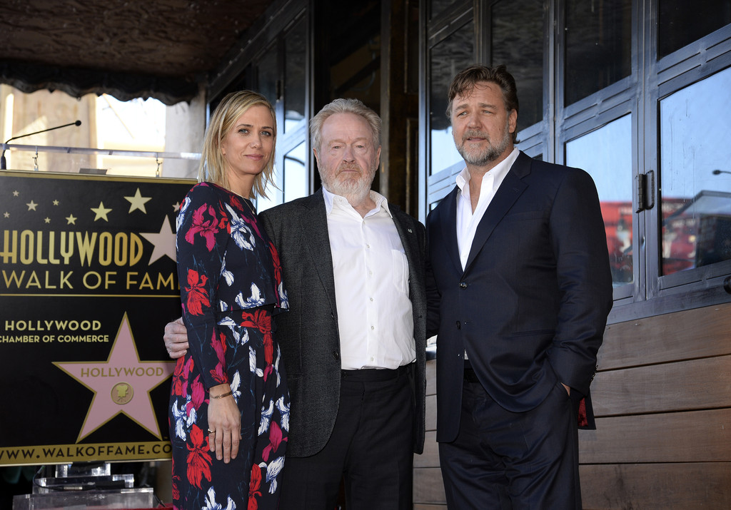 Kristen Wiig Celebrates Ridley Scott's Walk of Fame-Star