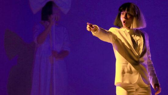 Kristen Wiig Performs with Sia at Coachella