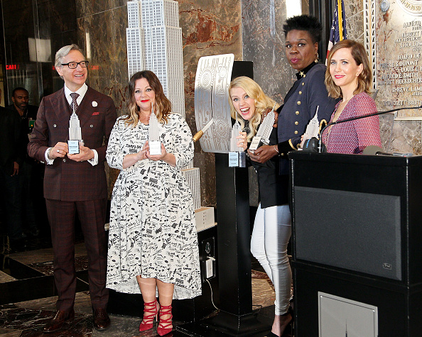 'Ghostbusters' Cast Visits Empire State Building