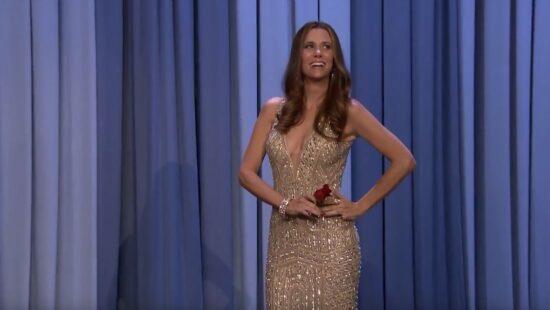 Kristen Wiig as JoJo Fletcher on The Tonight Show