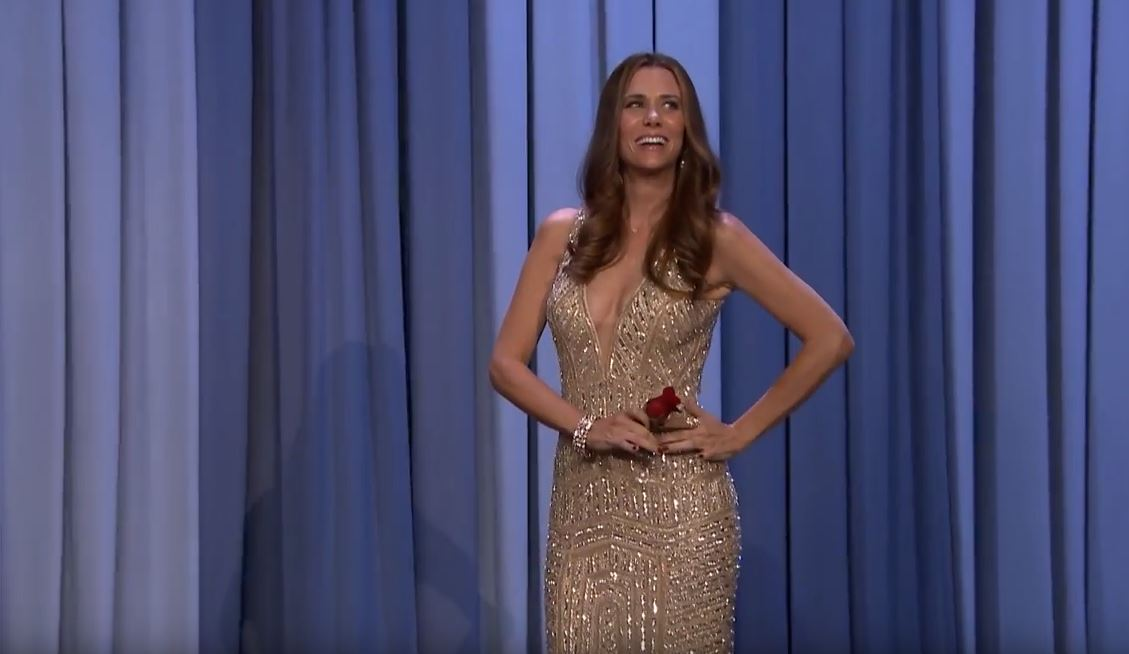 Kristen Wiig as JoJo Fletcher on The Tonight Show