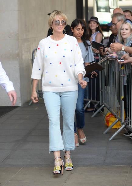 Kristen Wiig Outside the BBC Studios