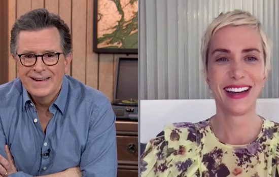 Kristen Wiig Promotes 'Barb and Star Go To Vista del Mar' on The Late Show With Stephen Colbert