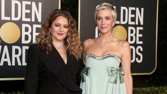 Kristen Wiig and Annie Mumolo attend the 2021 Golden Globe Awards